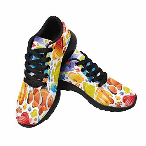 Interestprint Mujeres Trail Running Zapatos Jogging Ligero Deportes Walking Athletic Sneakers Colorful Fish Multi 1