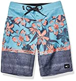 O'Neill Big Boys' 18 Inch Outseam Ultrasuede Swim Boardshort, Teal/Floriculture, 24