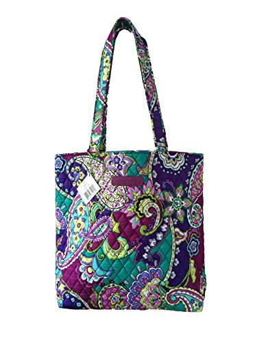 Vera Bradley Tote with Solid Color Interior (Updated Version) (Heather with Solid Purple Interior) by Vera Bradley