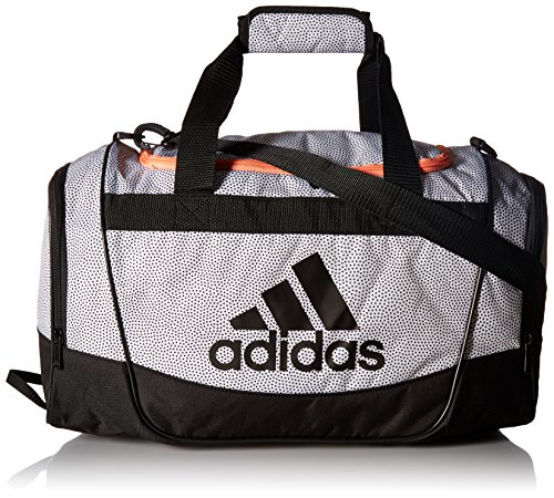 adidas Defender II Small Duffel Bag, One Size, White Grip/Black/Sun Glow