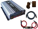 VertaMax PURE SINE WAVE 3000 Watt (6000W Surge) 12V Power Inverter DC to AC Power (1/0 Cables + Remote Control Switch + ANL Fuse) -- Solar, RV