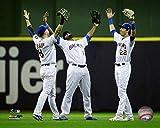 "Ryan Braun, Lorenzo Cain, Christian Yelich 2018 Milwaukee Brewers Action Photo (Size: 8"" x 10"")"