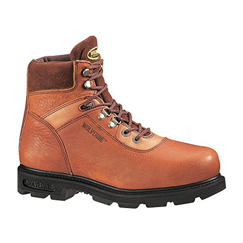 - Wolverine Men's Traditional Steel Toe EH 6in Work Boot - Brown - 9.5 EW