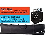 Athletico Padded Two-Piece Snowboard and Boot Bag