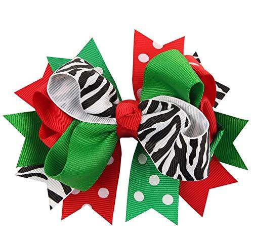 AOBitter Cute bow Christmas hair clip Copricapo di gioielli natalizi per bambini coreani