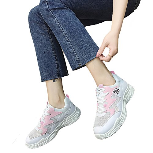 Fashion Workout Walking Shoes Sneakers Fitness KKLM Running Women's Chu warm Pink08 Athletic Jogging Sport Gym 17ZxYq