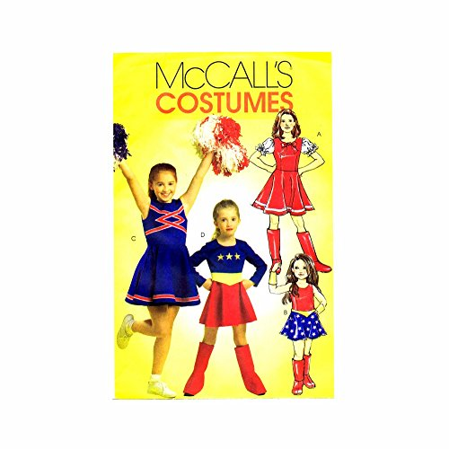 McCall Sewing Pattern M5727 CHJ - Use to Make - Child's Girl's Cheerleader, Super Hero Costumes - Sizes 7, 8, 10, 12, 14