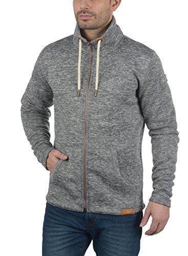 De Vellón Forro Sudadera 8236 Con Luki Alto Grey Hombre Solid Chaqueta Cuello Tacto Polar Al Para Con Con Cremallera Melange Suave pYXwx1