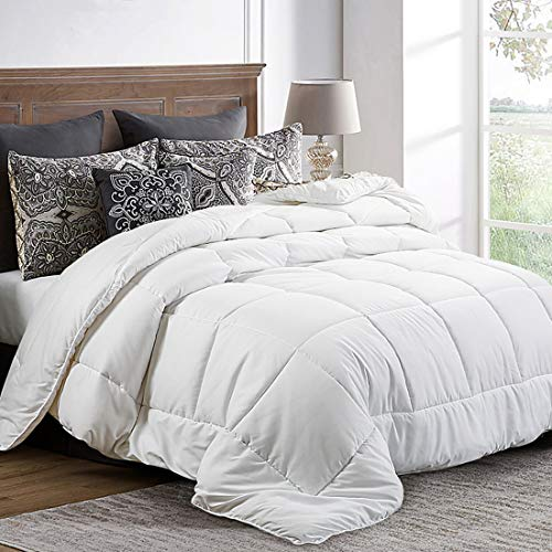 Queen Comforter (88 by 88 inches) - White Down Alternative for sale  Delivered anywhere in Canada