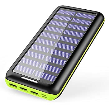 Solar Charger KEDRON 22000mAh Power Bank Portable charger with 2 Port Input & 3 Usb Output External Battery Pack for iPhone, iPad and Samsung Galaxy and More …