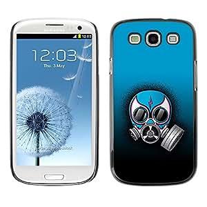 Be Good Phone Accessory // Dura Cáscara cubierta Protectora Caso Carcasa Funda de Protección para Samsung Galaxy S3 I9300 // Funny Gas Mask Rebel