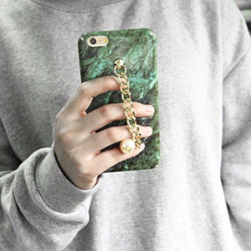 Phone case & Hülle Für iPhone 6 / 6s, Retro Marmor Muster Kette Perle Anhänger PC Schutzhülle