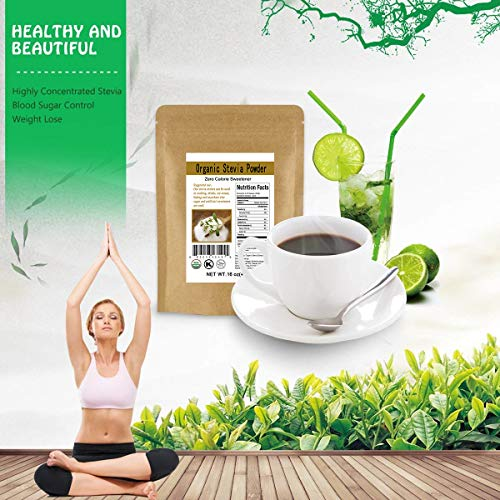 CCnature Organic Stevia Powder Extract Natural Sweetener Zero Calorie Sugar Substitute 16oz by CCnature (Image #4)