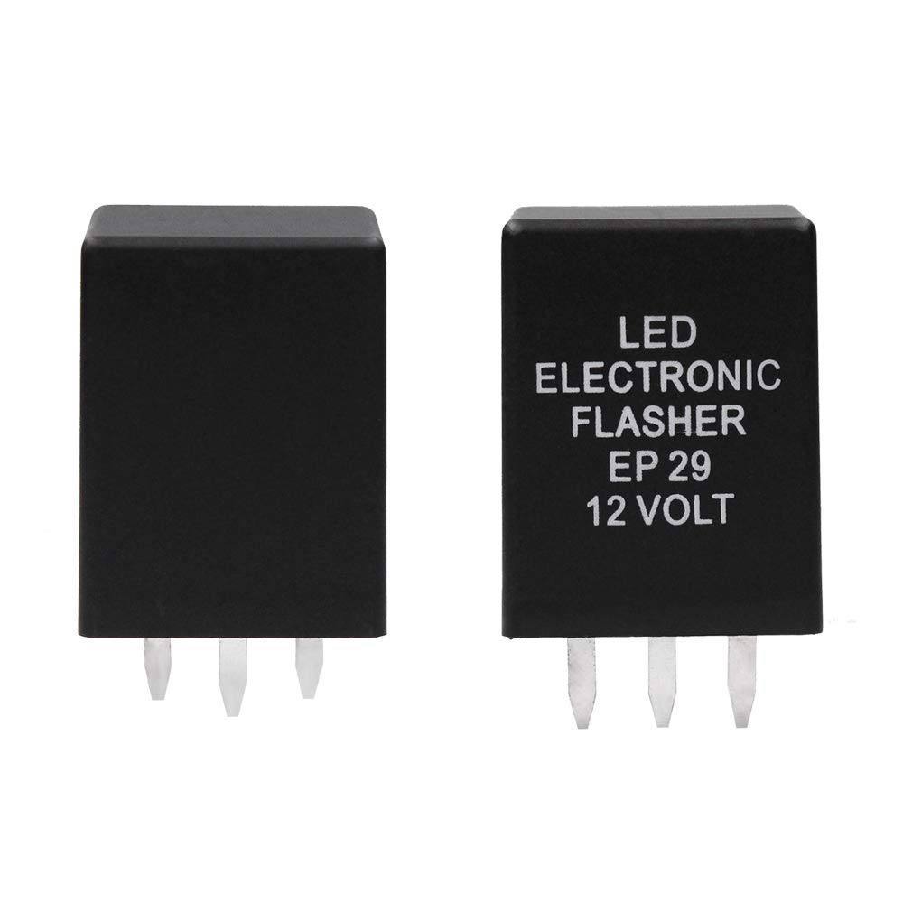 HUIQIAODS CF13 JL-02 3Pin LED Turn Signals Flasher Relay Hyper Flash Fix for LED 12V 0.02A-20A CF13 relay