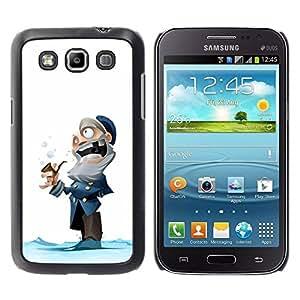 TopCaseStore / la caja del caucho duro de la cubierta de protección de la piel - Man Winter Cartoon Kids - Samsung Galaxy Win I8550 I8552 Grand Quattro