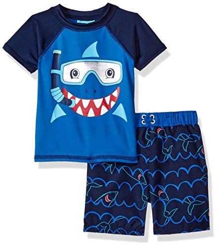 Baby Buns Baby Boys' Shark Mate Swim Set Rashguard, Multi...