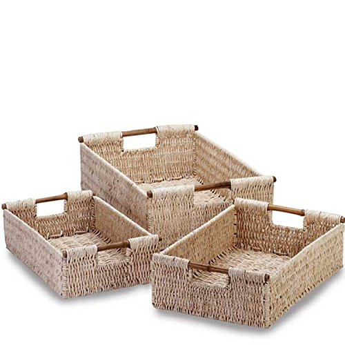 Corn Husk Basket (10-Sets of 3)(30 Baskets) by suppliesforgiftbasket