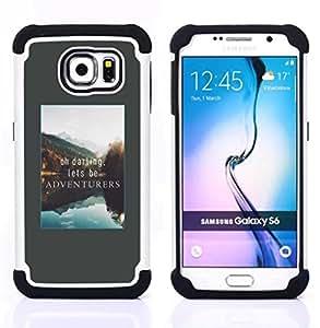 """Hypernova Híbrido Heavy Duty armadura cubierta silicona prueba golpes Funda caso resistente Para Samsung Galaxy S6 / SM-G920 [Aventura de vacaciones de Alaska Lago Naturaleza""""]"""