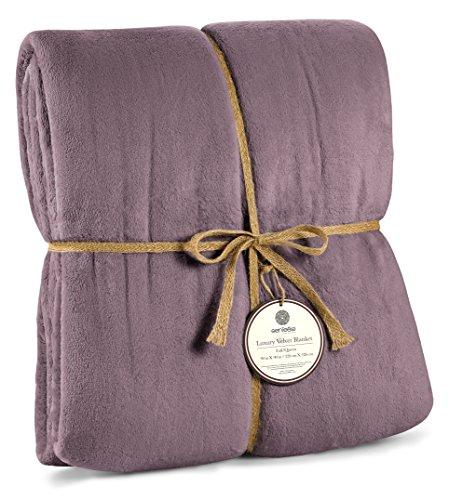 Genteele Luxurious Velvet Fleece Blanket Ultra Plush Soft Co
