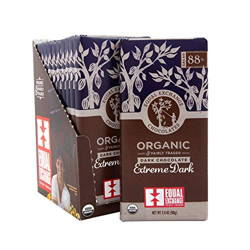 Equal Exchange Organic Extreme Dark Chocolate Bar, 2.8 Ounce (Pack of - 80 Exchange Equal