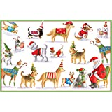 Entertaining with Caspari Waiting For Santa Christmas Cards, Box of 16