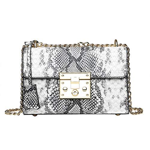 (Snake Skin Crossbody Shoulder Bag Handbags for Party Wedding,Women's Clutch Bag, Envelope Evening Bag Clutch Purse for Women)