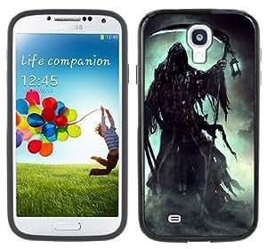 Grim Reaper Goth Handmade Samsung Galaxy S4 Black Bumper Hard Plastic Case