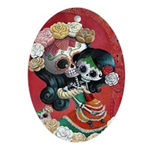 CafePress Mexican Skeletons - Mother with Daughter Ornament Oval Holiday Christmas Ornament]()