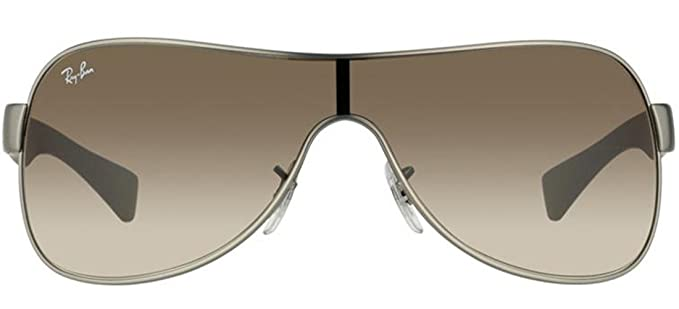 f9e67cd1b27 Image Unavailable. Image not available for. Color  Ray Ban RB3471 029 13  Gun Metal Matte Brown Gradient 32mm Sunglasses