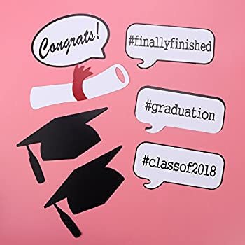 Graduation Photo Props Graduation Phtoto Booth Props Oulii 2018 Graduation Party Decorations Pack Of 17 6