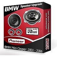 Pioneer Haut-parleurs de Voiture avec adaptateurs pour Porte Avant de BMW Mini Cooper 210W