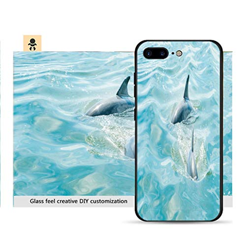 iPhone 7p / 8p Ultra-Thin Phone case Wild Dolphins Swimming in Atlantic Ocean by Amelia Island Florida Resistance to Falling, Non-Slip, Soft, Convenient Protective case