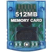 Childhood Clear Blue 512M Scheda di memoria per Nintendo Wii NGC Gamecube Console