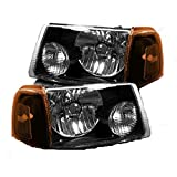 Itasca Sunstar 2010-2015 RV Motorhome Pair (Left & Right) Black Headlights Head Lights Front Lamps