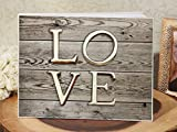 Vintage wood love guest book
