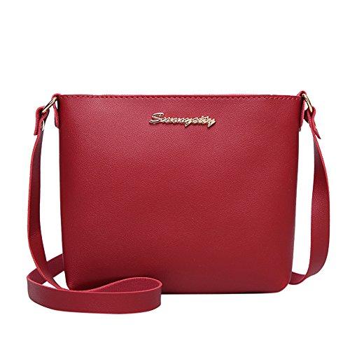 Homebaby Epaule Femme Selle Rétro Rouge à Porté pour Cuir Sacs Saddle Main Sacs Bag Sacoche Sac de en Sacs Main à Rétro Bandoulière Femme wXqPxrw