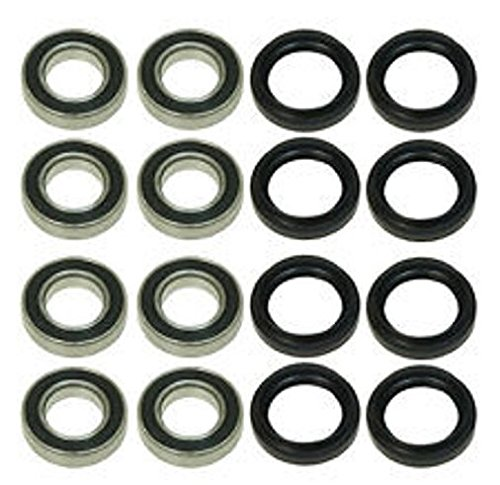 All Front and Rear Wheel Bearings Seals Kit Yamaha 660 Rhino 2004 - 2008 (Rear Wheel Bearings Seals)