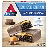 (US) Atkins Snack Bar, Caramel Double Chocolate Crunch, 5 Count