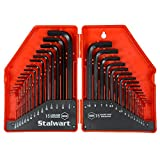 Stalwart 75-HT3010 Combo SAE & Metric Hex Key Wrench Set, 30 Piece