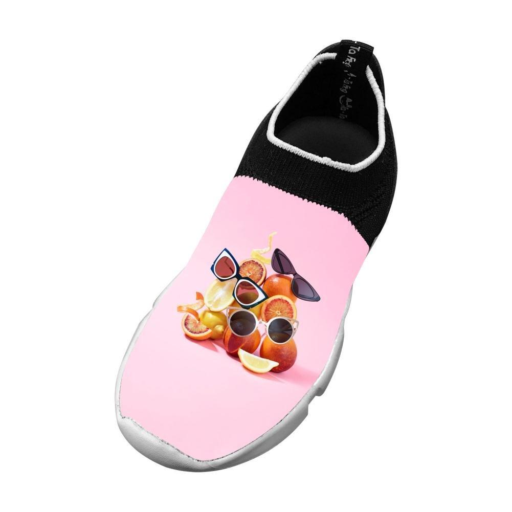 Sports Flywire Weaving Sneakers For Unisex Kids,Print Fruits Sunglasses 13 B(M) Us Big Kid