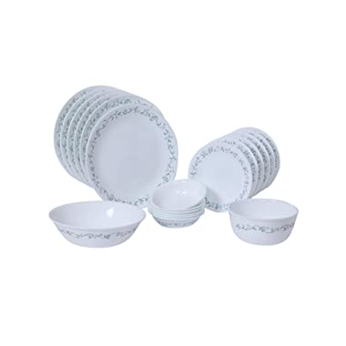 Corelle Country Cottage Dinnerware Set with Lids (20-Piece, White)