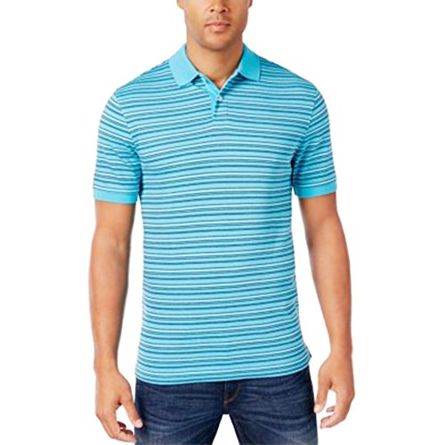 Club Room Mens Robert Stripe Polo Sweetwater, Medium