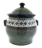 Polish Pottery Mosaic Flower Cookie Jar