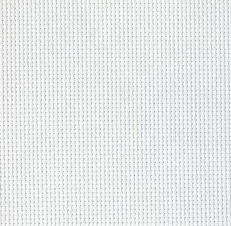 打込目数18カウント/1センチ約70目/10cm クロスステッチ 刺しゅう用布 WHITE AIDA 白色アイーダ / ロールタイプ 18カウント(70目) 150cm巾 × 450cm 針どおりがよく、布目が数えやすいのでこぎん刺しに最適な刺繍布です。 B06XWFY237