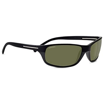 Serengeti Pisa gafas de sol, Pisa, Pisa Satin/Shiny Black Polarized 555nm