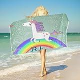Best Rainbow Towel For Bath Beaches - Sleepwish Unicorn Beach Towel Kids Cartoon Bath Towels Review