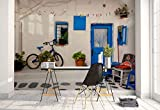 Photo wallpaper wall mural - House Wall Yard Bicycle Plants Terrace - Theme Travel & Maps - XL - 12ft x 8ft 4in (WxH) - 4 Pieces - Printed on 130gsm Non-Woven Paper - 1X-1201493V8