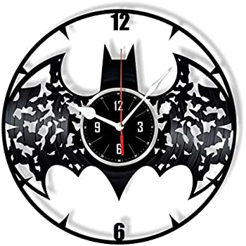 HMGift Batman Vinyl Wall Clock - Great Gift for Birthday, Anniversary or Any Other Occasion - Beautiful Home Decor - Unique Design That Made Out of Retro ...
