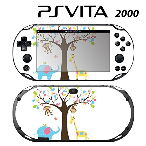 Skin Decal Cover Sticker for Sony PlayStation PS Vita Slim (PCH-2000) - Monkey Giraffe Elephant Owl Tree -  Decals Plus, PV2-PA33