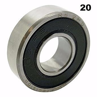 Pre-Lubricated 20 6202-2RS Sealed Bearings 15x35x11 Ball Bearings Twenty